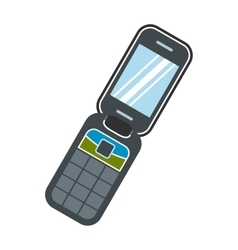 Clamshell handphone flat icon vector