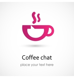 Coffee chat vector image vector image