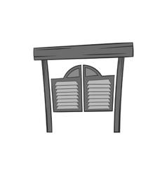 Cowboy door icon black monochrome style vector image vector image