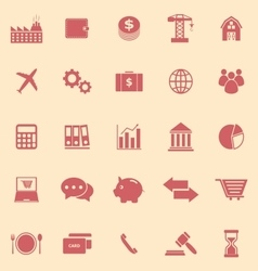 Economy color icons on yellow background vector image vector image
