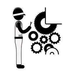 Engineer design vector image