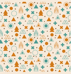 Ethnic geometric seamless pattern tribal vector