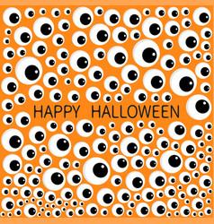 Eyes frame eyeball apple set happy halloween vector