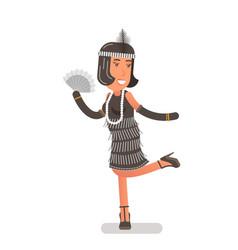 Flapper girl vector