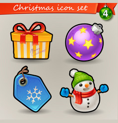 funny christmas icons-4 vector image vector image