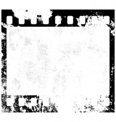 grunge film frame vector image vector image