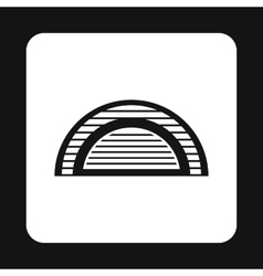 Hangar icon in simple style vector image vector image