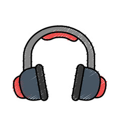 Headphones icon image vector
