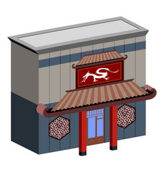 Isolated chinese restaurant vector