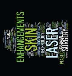 Laser skin enhancements text background word vector