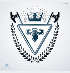 Luxury heraldic emblem template made using vector