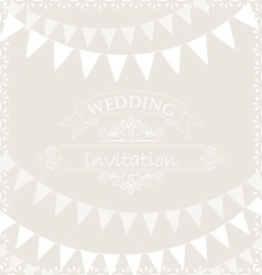 Party ribbons on wedding invitation card vector