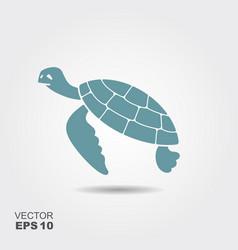sea turtle icon vector image vector image