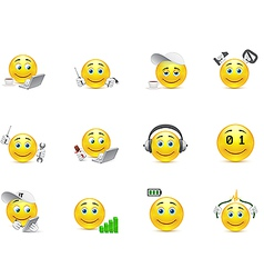 smileys representing charging for the body and vector image