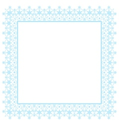 Snowflakes frame vector