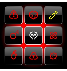 Stencil buttons for danger vector image