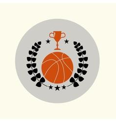 Vintage basketbal emblem vector
