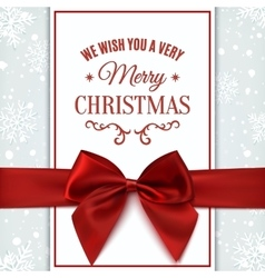 We wish you merry christmas greeting card vector