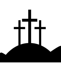 Good friday isolated icon vector