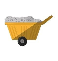 Cartoon cart train mining mineral vector