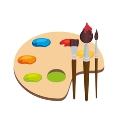 paint pallette school supply isolated icon vector image