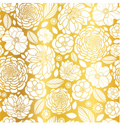 gold and white mosaic flowers seamless vector image
