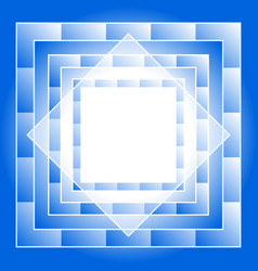 abstract blue geometric square seamless pattern vector image