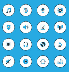 Multimedia colorful icons set collection of note vector