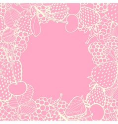 Frame of berries vector