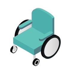 Wheelchair isometric 3d icon vector