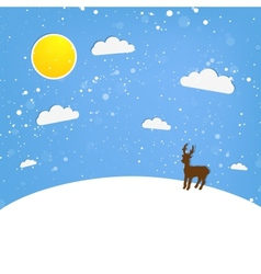 Xmas of happy reindeer vector