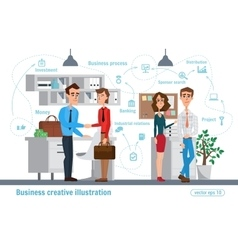 Business creative  women and man vector
