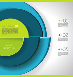 abstract segmented circle infographics with vector image