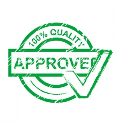 Approved stamp vector