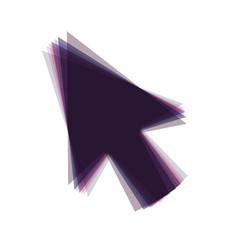 Arrow sign colorful icon vector