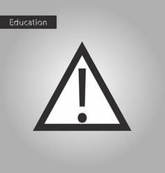 attention sign black and white style icon vector image