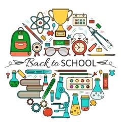 Back School Card vector image