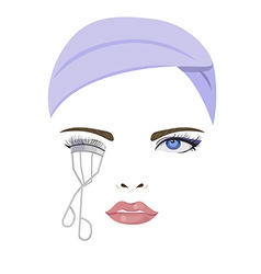 Bend eyelash vector