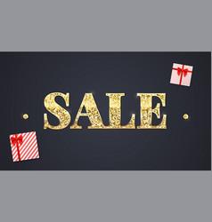 black sale background glittering text sale vector image vector image