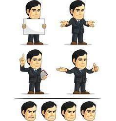 Businessman or Company Executive Customizable 8 vector image vector image