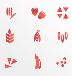 Cereals and seed flat icons vector image vector image