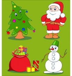 Christmas cartoon set vector image vector image