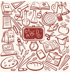 education sketch vector image