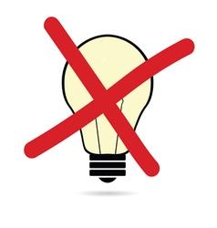 lightbulb cartoon create on white vector image