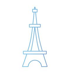 line beauty eiffel tower architecture construction vector image