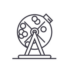 lottery bingo cage concept thin line icon vector image