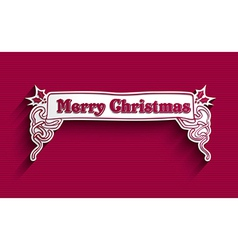 Merry Christmas vintage label vector image