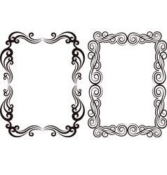 ornamental frames vector image vector image