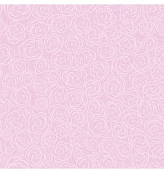 pink vector rose seamless flow vector image vector image