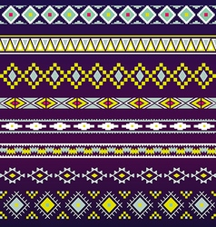 Seamless pattern for tribal design ethnic motif 3 vector